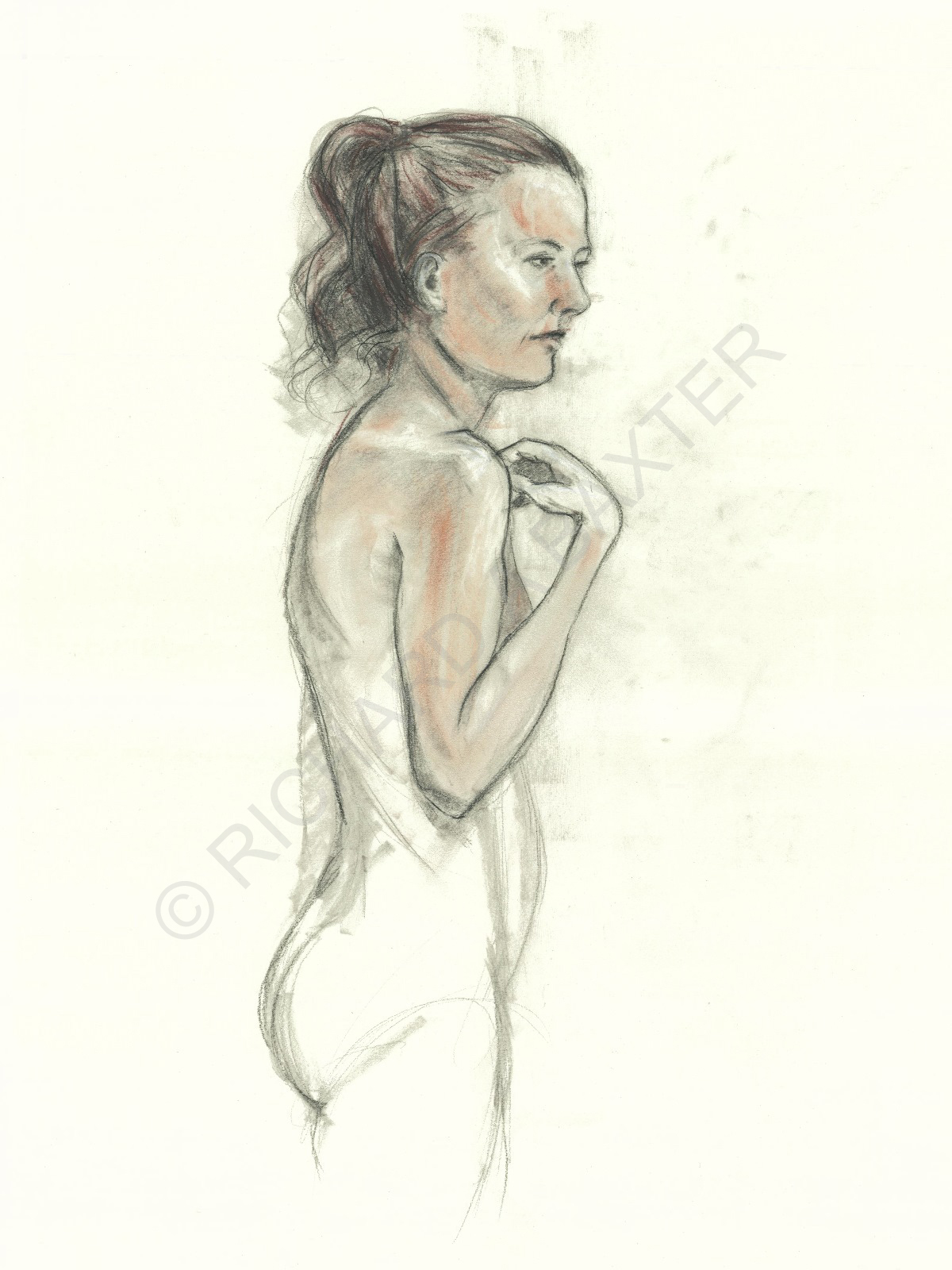 Figure drawing by Dr. Baxter
