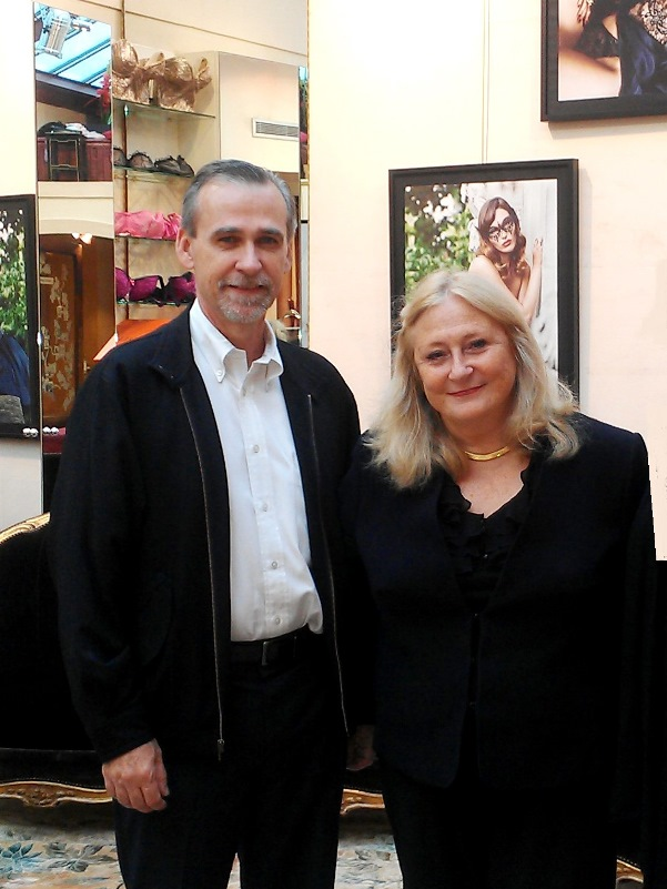 Dr. Baxter with bra expert Poupie Cadolle