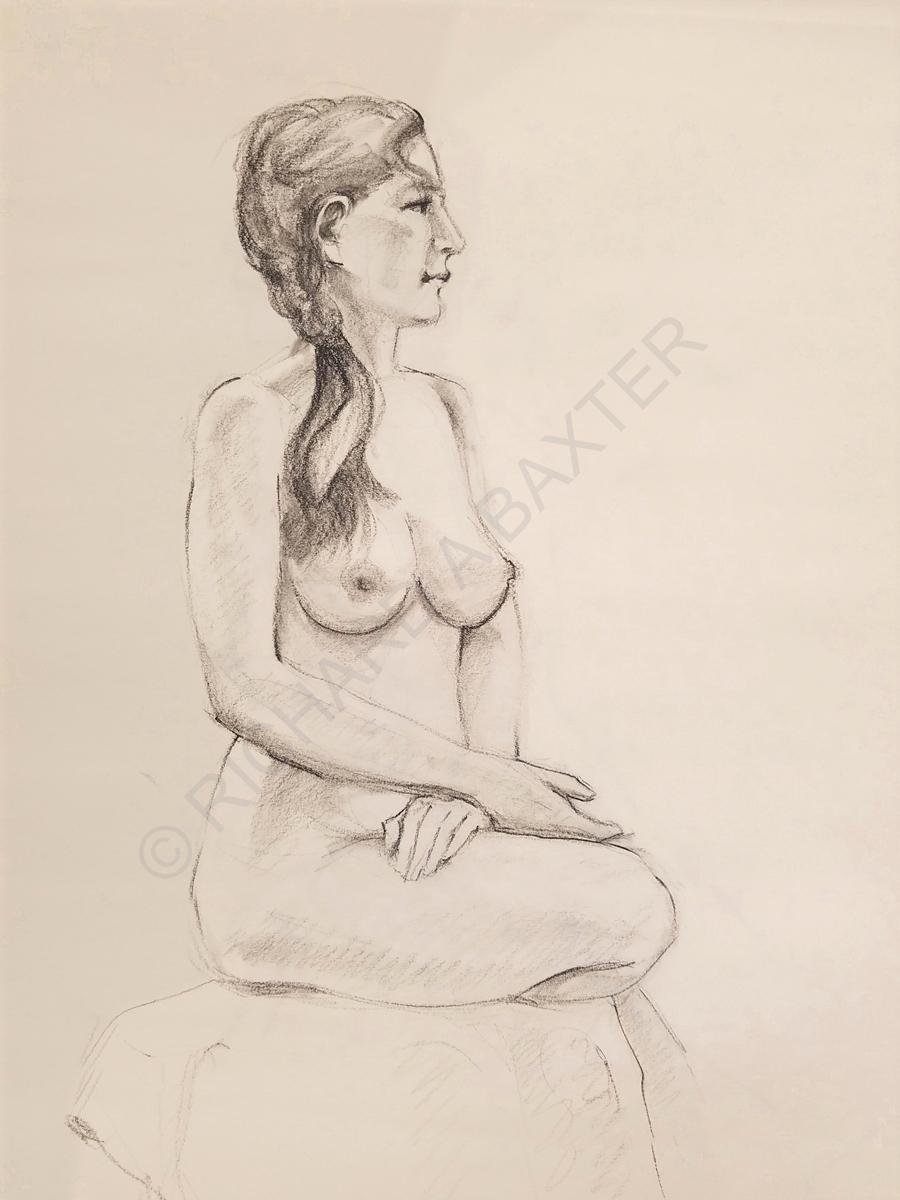 Conté Drawing by Dr. Baxter